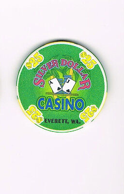 Everett WA Washington Silver Dollar Casino $25 Casino Chip