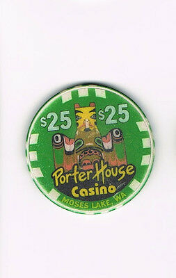 Porter House Casino Moses Lake, WA Washington $25 Casino Chip