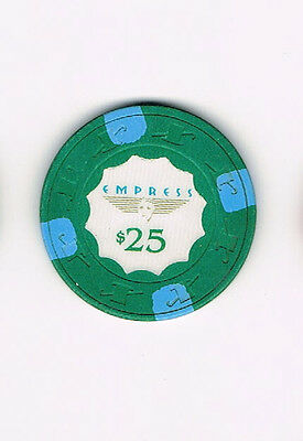 Empress $25 Casino Chip (with Blue Stripes)