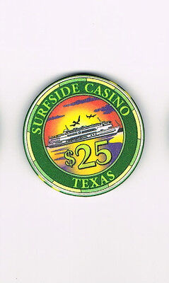 Surfside Casino Texas TX Ship $25 Casino Chip