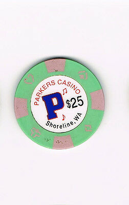 Parkers Casino - Shoreline, WA Washington $25 Casino Chip