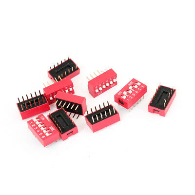 10PCS DIP Switch 12 Pins 6 Positions Sliding Toggle Switches 2.54mm Pitch