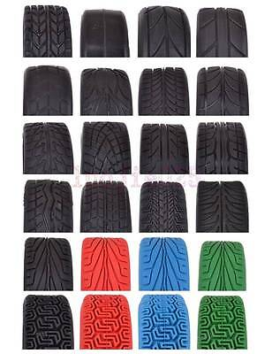 4PCS RC 1/10 On Road Car Soft Rubber Tyre Tires Fit HSP HPI Redcat Flat Racing