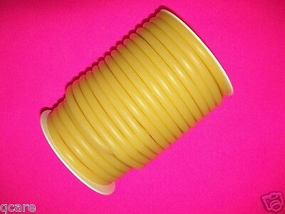 "3/16"" ID  x 1/32""w  x 1/4"" OD  50 FOOT REEL LATEX  RUBBER TUBING AMBER SURGICAL"
