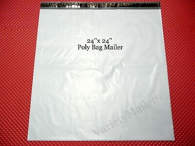 "15 Ex-Large 24""x 24"" Poly Bag Shipping Envelopes Self-Sealing Big Postal Mailers"