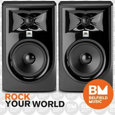 2 x JBL LSR308 MKII Powered Active Studio Monitor Speaker 8 Inch LSR-308 MK2- BM