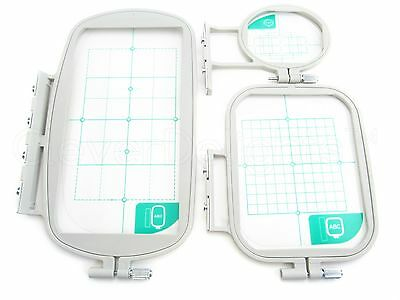 Embroidery Hoop Set for Brother SE400 PE540D LB6800 Machine - 3 Piece Set - NEW