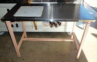 Used Molina's Laboratory Isolation Table Stainless Steel Top