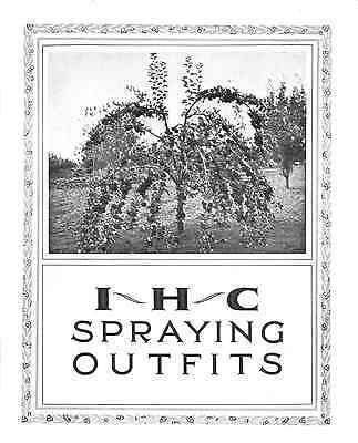 IHC Spraying Outfits sales catalogue reprint