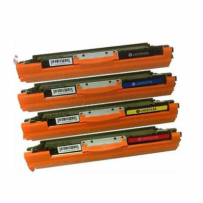 4PK Toner for HP 126A CE310A/CE311A/CE312A/CE313A LaserJet CP1025nw M175A M175nw