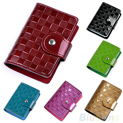 Woman Patent Leather ID Credit Card Case Holder Pocket Bag Wallet Organizor New