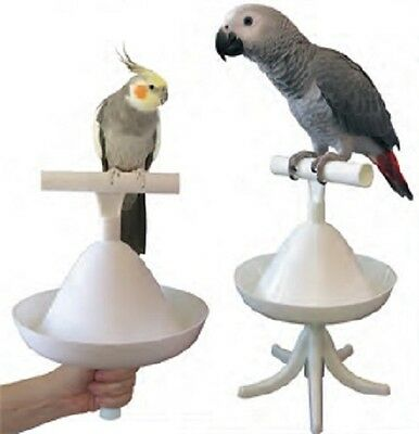 Parrot Bird Perch Table Top Stand Multi Use Percher
