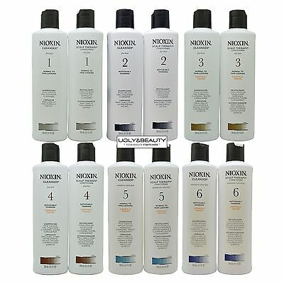 Nioxin Cleanser & Scalp Therapy Duo 300 mL / 10.1 Fl. Oz. (Choose Your System #)