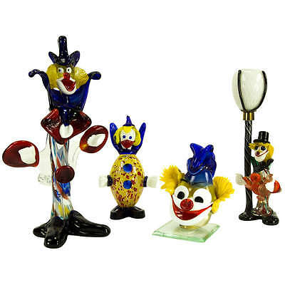 Whimsical Murano Glass Clowns Collection