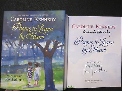 Caroline Kennedy signed Book Poems to Learn by Heart 1st Print JFK daughter BAS