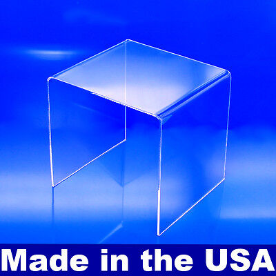 "Acrylic Display Riser 6"" x 6"" x 6"" - Made In USA Acrylic Risers"