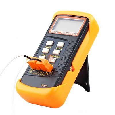 Dual Two Channel K-Type Digital Thermometer Thermocouple Tester Sensor Detector