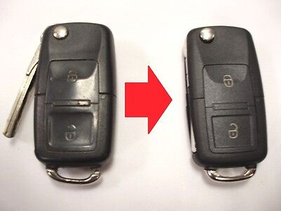 Repair service for VW Volkswagen remote flip key fob + new case