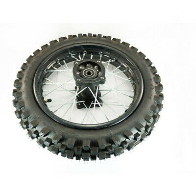 "12"" Inch Tire Plus Tube & Rim 15mm Dirtbike 90cc 125cc Dirt Bike Rear Wheel Tyre"