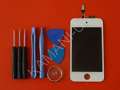 Replacement LCD Display Touch Screen Digitizer Assembly for iPod Touch 4 White
