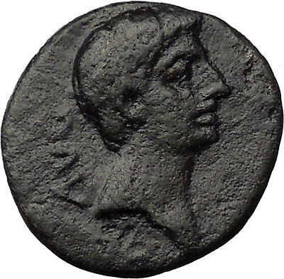 Augustus 27BC Philippi Macedonia Ancient Roman Coin Colonists w two oxen i31230