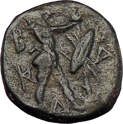 Antigonos II Gonatas Ancient Greek Coin Nude Pan Panic God Athena Cult   i28627