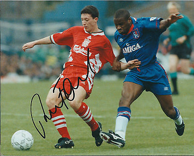 Robbie FOWLER Signed Autograph 10x8 Photo AFTAL COA Liverpool Legend Genuine