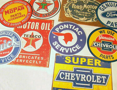 GIANT 20 SIGN GARAGE LOT!! Retro Retro Texaco Oil Ford Chevy Tin Signs Gift USA