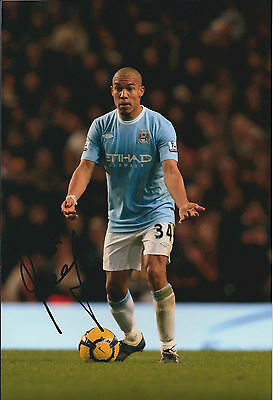 Nigel DE JONG Signed 12x8 Photo AFTAL COA Autograph Manchester City