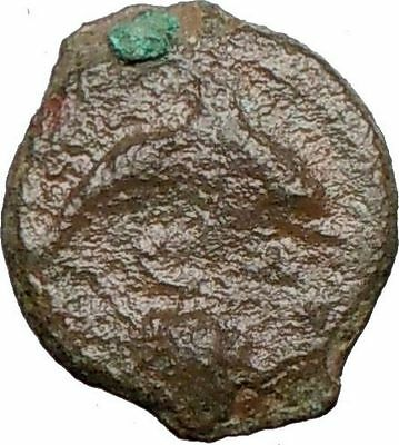 Syracuse Sicily 357BC  Authentic Ancient Greek Coin FEMALE & DOLPHIN i25034
