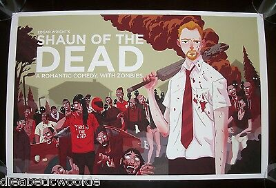 Shaun of the Dead movie art print poster Simon Pegg Edgar Right zombies