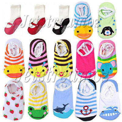 Unisex Baby Kids Toddler Girl Boy Anti-Slip Socks Shoes Slipper