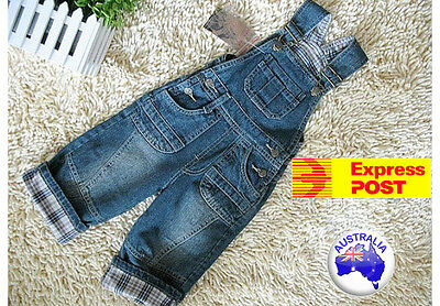 Kids Boys denim overall size 1Y - 5Y TWO DESIGNS !
