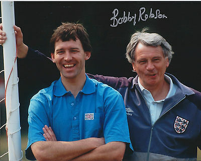 BOBBY ROBSON England Manager SIGNED 10x8 Autograph COA AFTAL Bryan AUTHENTIC