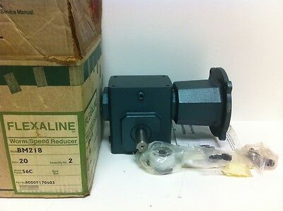 New Grove Gear Flexaline Worm Speed Reducer 20:1 Bm218-2 56C.814Hp
