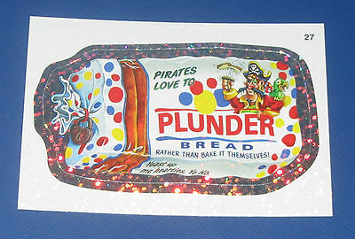 WACKY PACKAGES ANS8 SILVER FLASH FOIL #27 PLUNDER BREAD     NM/MT