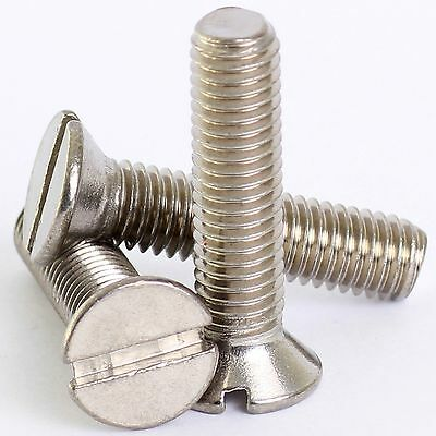 M3 M4 M5 A2 Stainless Slotted Countersunk Machine Screws Slot Csk Screw Din963