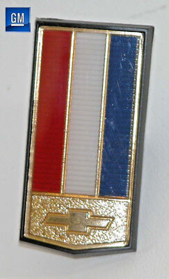 82-92 Camaro Z28 Front Bumper Nose Emblem With Gold Bowtie    NEW GENUINE GM 278