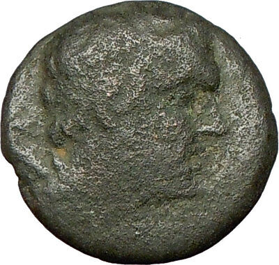 Pella Macedonia 196BC Ancient Greek Coin  Panic God  PAN Cult  TWO GOATS  i24066