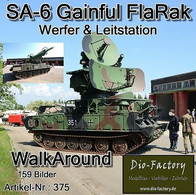 FOTO-DVD 375 ** SA-6 GAINFUL FlaRak ** WalkAround ** 159 Bilder ** Dio-Factory