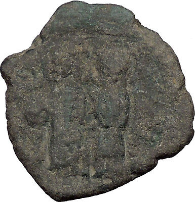 Justin II & Queen Sophia 565AD Ancient Medieval Byzantine Coin Large K  i32641