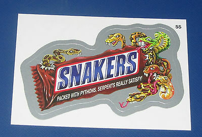 WACKY PACKAGES ANS10 SILVER FOIL #55 SNAKERS        NM/MT