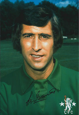 Peter BONETTI SIGNED Autograph 12x8 Photo AFTAL COA Chelsea GOALKEEPER The Cat