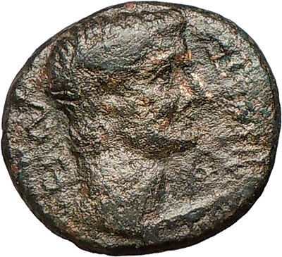 TIBERIUS Adapted son of Augustus ARTEMIS Cult  Bull Ancient Roman Coin  i24624