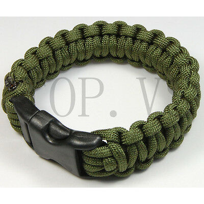 550 Paracord Military Camping Hiking Hunting Survival Bracelet Parachute Cord #2