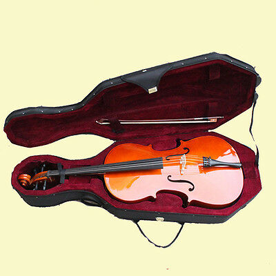 Natural 1/2 Cello+Hard Case+Bag+Bow+Rosin 1/2 Student Cello-483#