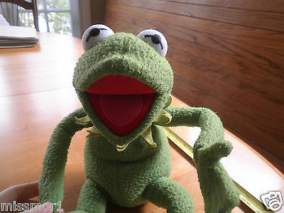 Kermit the Frog Eden toys plush bendable legs Muppets doll 20""