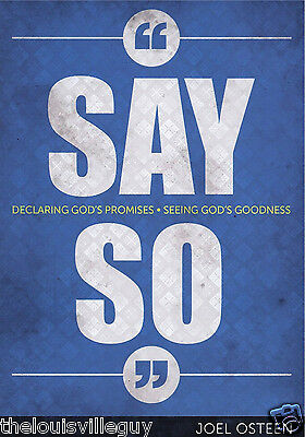 "Joel Osteen  ""Say So""- 4 CDs & 1 DVD & Booklet -31 Day Life Changing Devotional"