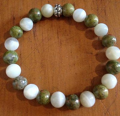 ॐCrystal Blissॐ Unakite & Moonstone Pregnancy Fertility IVF Health Yoga Bracelet