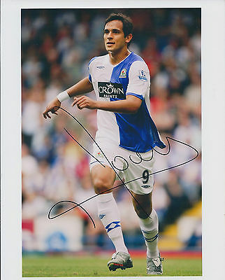 Roque SANTA CRUZ Signed 9x6 Photo AFTAL COA Autograph Blackburn Rovers